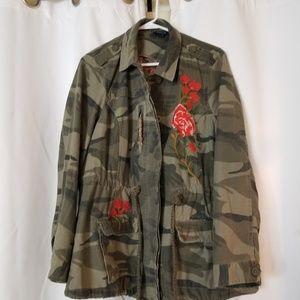 Floral camo jacket
